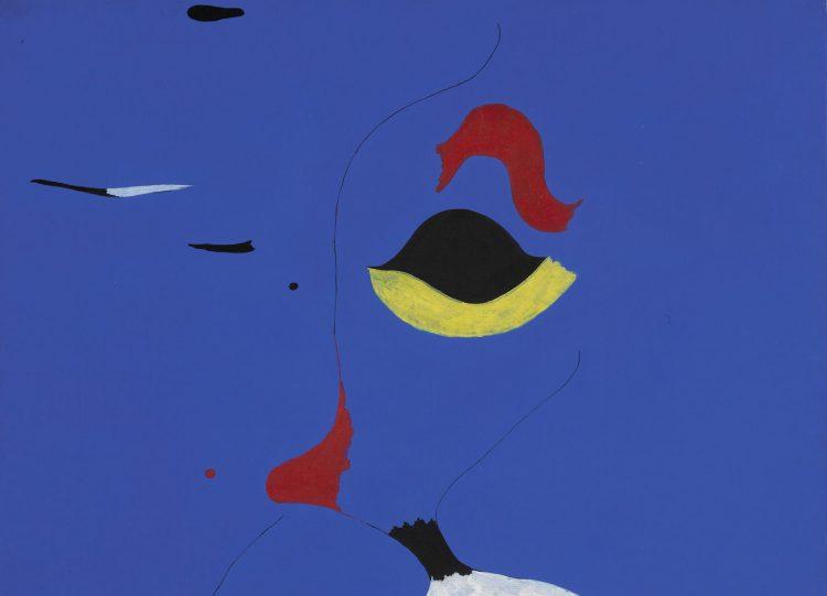 Joan Miró, Peinture (Femme au Chapeau Rouge), 1927 (detay)