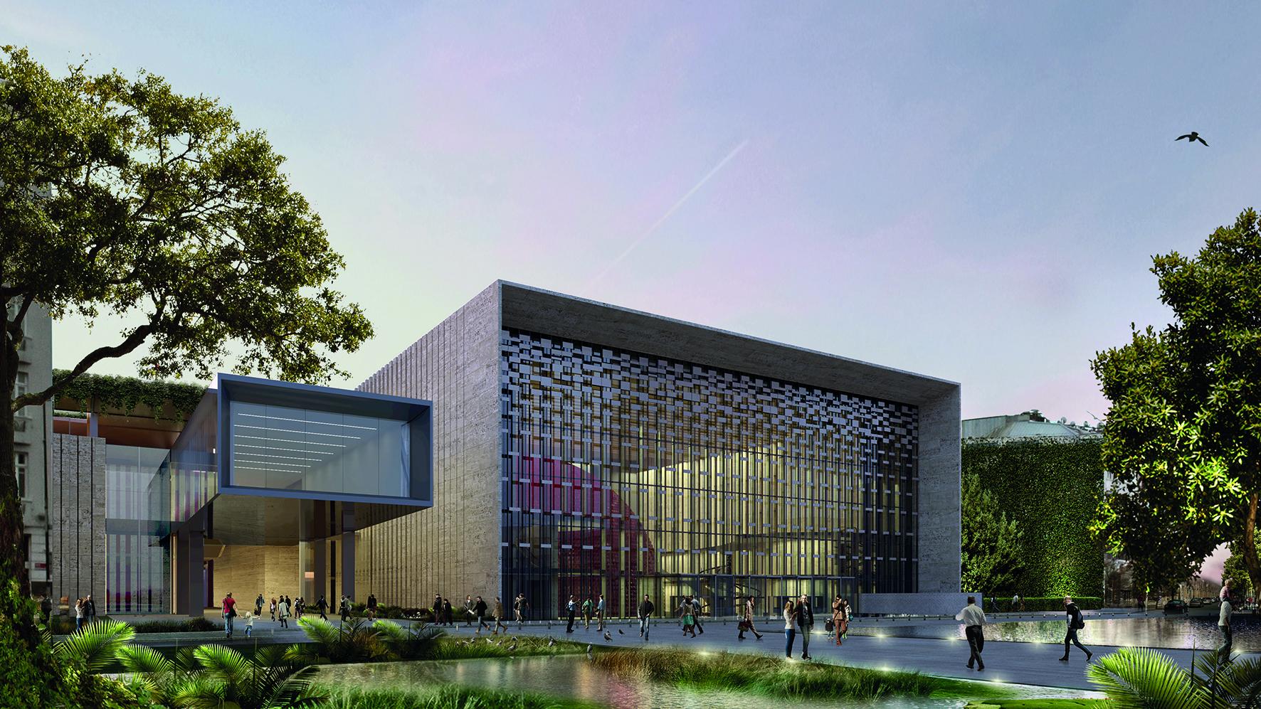 The new Ataturk Cultural Center designed by Murat Tabanlıoğlu