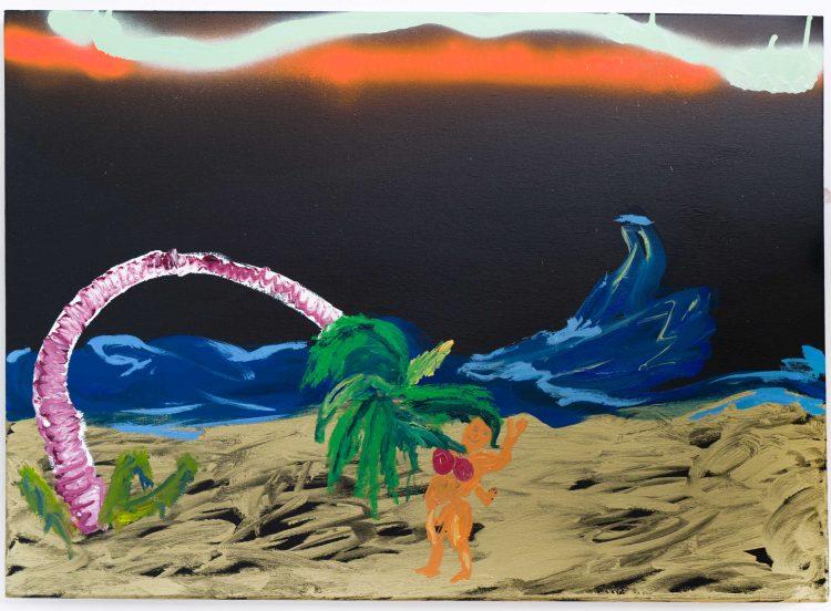 Nilbar Güreş, The Sea Said Okay, 2020, Oil on canvas 50 x 70 cm (unframed) 58 x 78 cm (framed)