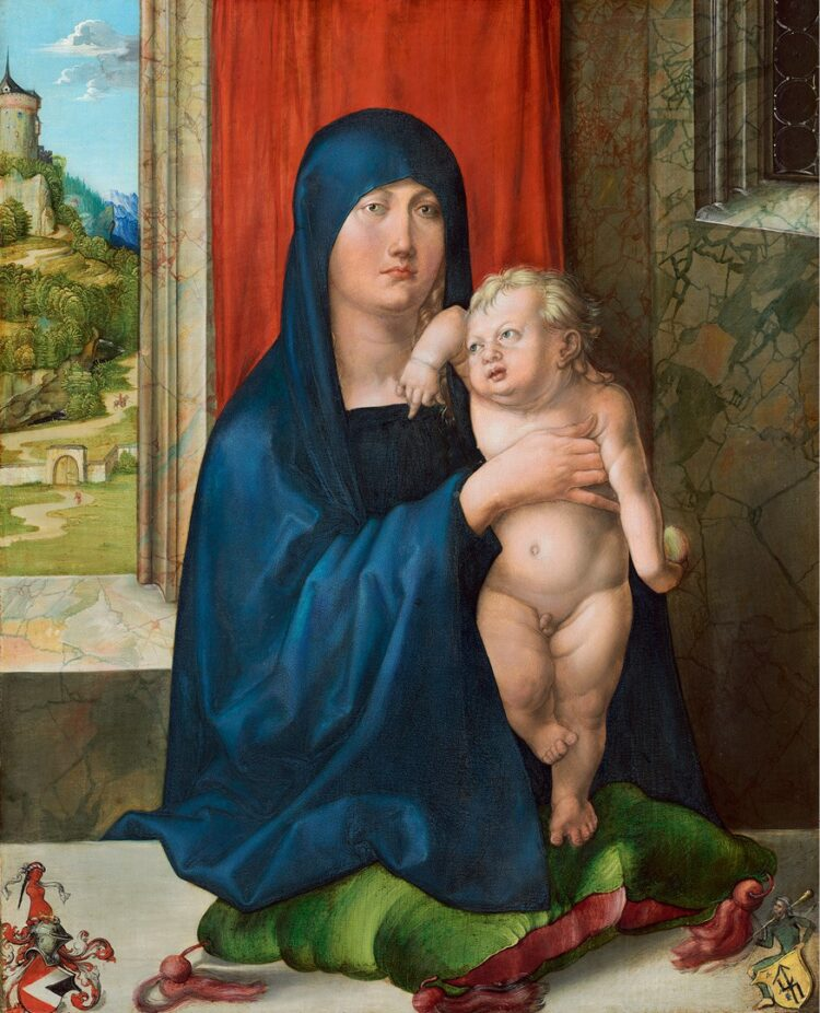 Albrecht Dürer, 'Madonna and Child', about 1496–9. National Gallery of Art, Washington DC. Samuel H. Kress Collection (1952.2.16.a). Image courtesy of the Board of Trustees, National Gallery of Art, Washington, DC.